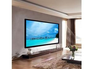 "100"" Aluminum Fixed Frame 16:9 Projector Screen Velvet Matte White Home Theater"