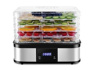 Food Dehydrator Preserver 5 Tray Fruit Vegetable Dryer Timer Temperature Control