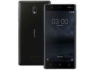 Nokia 3 TA-1028 16GB Unlocked GSM Compatible Android Phone w/ 8MP Rear + Front Camera - Black