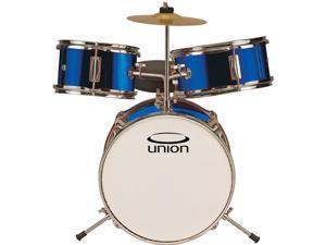 UT3 3-Piece Toy Drum Set with Cymbal and Throne - Metallic Dark Blue