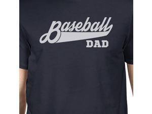 e4407b06533 Baseball Dad Men s Navy Round Neck T Shirt ...