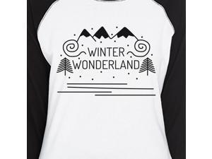 a653f88a389d97 Winter Wonderland Womens Winter Raglan T-Shirt ...