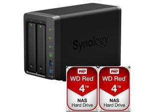 Synology DS718+ DiskStation Fully Assembled and Tested with 8TB (2 x 4TB) of Western Digital NAS Drives By CustomTechSales