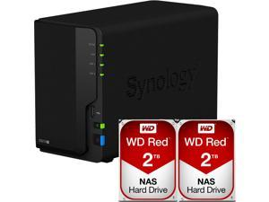 Synology DS218+ DiskStation with 4TB (2 x 2TB) Western Digital NAS Drives Fully Assembled and Tested By CustomTechSales