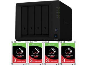Synology DS418play DiskStation Preconfigured with 8GB RAM and 12TB (4 x 3TB) Seagate Ironwolf NAS Drives