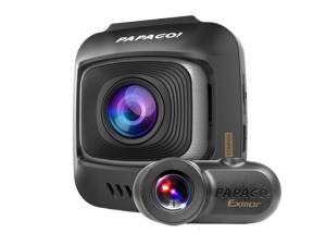 PAPAGO! GoSafe S780 2-Channel 1080p Full HD  Dash Cam with Sony Starvis Image Sensor Ultra Wide Angle and 16GB Micro SD Card