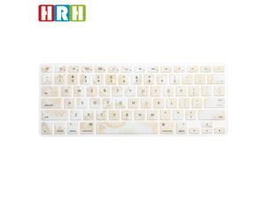 HRH 3D Ingots English Language Silicone Keyboard Cover Protector for MacBook Air 13 and for MacBook