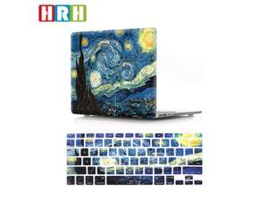 HRH 2 in 1 Starry Night Laptop Body Shell Protective Hard Case Cover and Matching Silicone