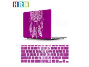 HRH 2 in 1 Dream Catcher Feather Ombre Purple Laptop Body Shell Protective Hard Case Cover