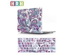HRH 2 in 1 Paisley Seamless Hot Pink Flower Laptop Body Shell Protective Hard Case Cover