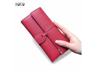 AOEO Card Holder Wallet Female Day Clutches Casual Quality PU Leather Hasp  Luxury Women Portfolio Money e54e7a8a6b