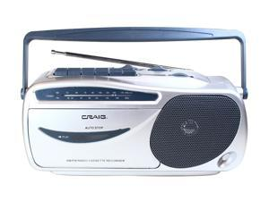 Craig Electronics CD6911 Portable AM/FM Radio Cassette Player with Recorder