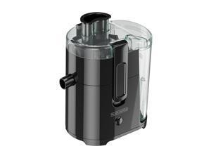 BLACK+DECKER JE2400BD 400-Watt Fruit and Vegetable Juice Extractor with Space Saving Design, Black