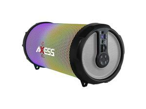Axess SPBL1044SL LED Bluetooth Media Speaker with FM, Silver