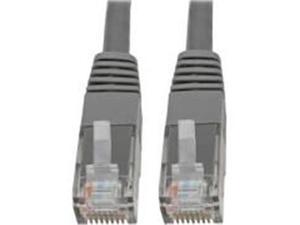 Tripp Lite N200-010-GY 10 ft. Cat6 Cat5 Patch Cable RJ45 Gigabit Molded M-M 550Mhz, Gray