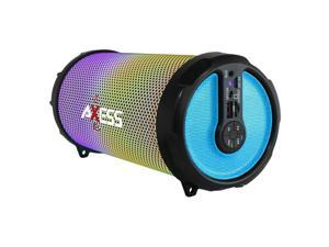 Axess SPBL1044BL LED Bluetooth Media Speaker with FM, Blue