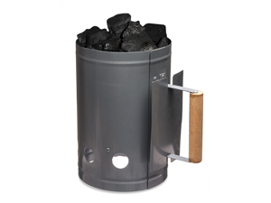 Charcoal Starter with Wooden Handle Fastest Easiest Charcoal Chimney Starter for BBQ Grills