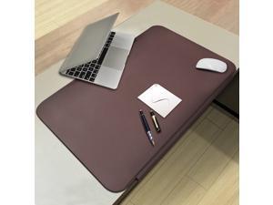 "CENNBIE Desk Mat Blotters 26"" x 16"", TPU Desk Pads with Fixation Lip,Comfortable Desktop Protector Mat (Brown)"