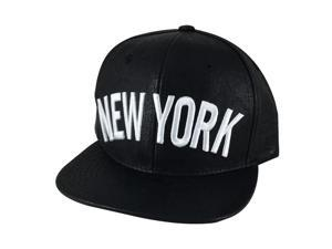 80e6c835c6a CapRobot N21 New York City Leather Snapback Cap ...