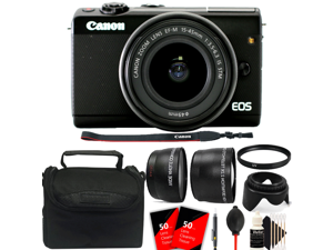 Canon EOS M100 Mirrorless Digital Camera with 15-45mm Lens with Accessory Kit