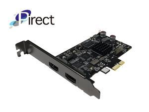 Pirect Uldra-P60 Video Capture card, True 60fps recording and streaming @1080p, Ultra low latency preview, H.264/AVI software encoding, PCI-Express x1