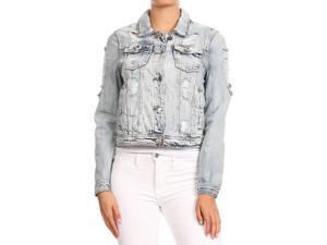 ea717ceeae8 76136a(JK) - Women s Premium Denim Jackets Long Sleeve Ripped Jean Coats