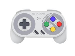 MY ARCADE Super Gamepad Wireless Controller for Nintendo NES & SNES Classic Edition with Super Famicom Style Buttons