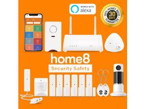 Home8Pro TotalShield Security System,14-Piece Monitoring Bundle. Includes Motion Sensor,Door Sensors, Water Leak Sensor, and Fire/CO Siren. Easy DIY, Wireless System. 24/7 Priority Dispatch Available!