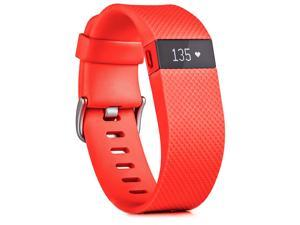 Fitbit Charge HR Heart Rate & Activity Fitness Monitor Wristband - Tangerine - Large
