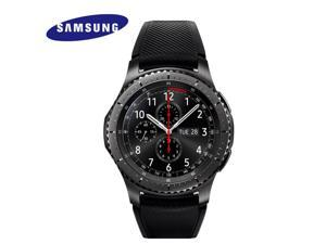 "Samsung Gear S3 Frontier 4GB SM-R760 1.3"" Super AMOLED Display 768MB RAM Silicon Strap Smartwatch - Dark Gray (Bluetooth model / International Version)"