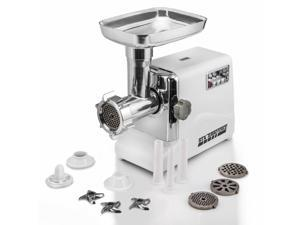 STX INTERNATIONAL Model STX-3000-TF Turboforce 3000 Series 3- Speed Electric Meat Grinder with 3 Stainless Steel Cutting Blades, 3 Grinding Plates, Kubbe Attachment and Sausage Stuffing Tubes
