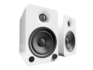 Kanto YU4 Powered Bookshelf Speakers with Bluetooth® and Phono Preamp for Turntable, TVs, PC — Gloss White