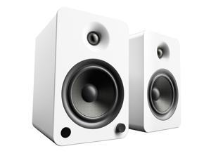 Kanto YU6 Powered Bookshelf Speakers with Bluetooth® and Phono Preamp for Turntable, TVs, PC — Matte White