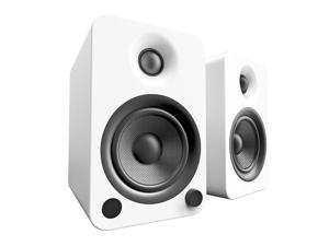Kanto YU4 Powered Bookshelf Speakers with Bluetooth® and Phono Preamp for Turntable, TVs, PC — Matte White
