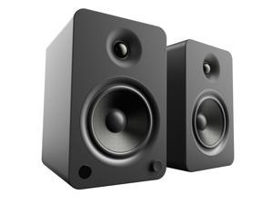 Kanto YU6 Powered Bookshelf Speakers with Bluetooth® and Phono Preamp for Turntable, TVs, PC — Matte Black