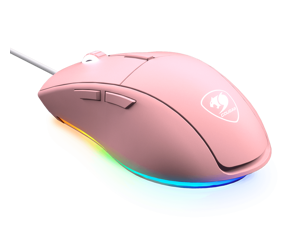 Cougar Minos XT Pink Gaming Mouse with RGB Lighting and ADNS-3050 Optical Gaming Senso