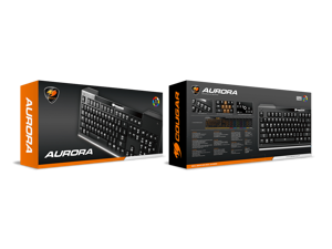 Cougar Aurora Gaming Keyboard with Carbonlike Design and Eight Backlight