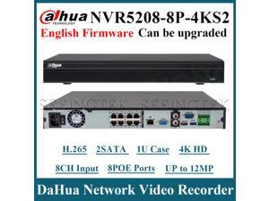 Dahua NVR5208-8P-4KS2 8 Channel 8PoE 4K&H.265 Lite Network Video Recorder 2SATA