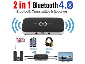Wireless Bluetooth Transmitter & Receiver A2DP Home TV Stereo Audio Adapter for Android, IOS phone system and PAD and all Bluetooth audio devices.