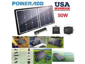 Poweradd 50W Solar Charger 18V 12V sunpower Solar Panel for Laptop, iPhone X / 8 / 8 Plus, iPad Pro, iPad mini, Macbook, iPad Samsung, Generator, ChargerCenter, UPS and More