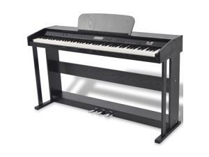 vidaXL 88-key Digital Piano with Pedals Black Melamine Board