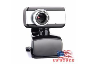 USB Webcam 12M Pixels HD Clip-on 480P Web Cam Camera 360 Degree Rotation  with Microphone MIC for Computer Laptop PC