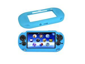 Blue Soft Silicone Skin Protector GEL Frame Cover Sleeve Game Case Protective Shell Guard for Sony PS Vita Console PSP