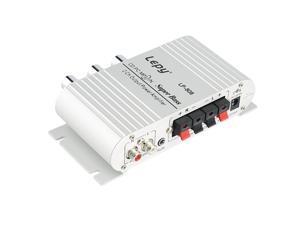 12V Hi-Fi Stereo Audio Amplifier Home Hi-Fi Bass Speaker Loudspeaker For Car Auto Mini MP3 MP4 PC Radio