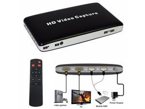1080P HD Video Game Capture HDMI Recorder Card HDMI/AV/Ypbpr TV Video Recorder With Remote Control Support Mic USB Disk