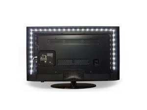 Luminoodle LED TV Backlight - Large - The Longest USB LED Backlight on the Market - USB Powered LED HDTV Bias Lighting for TV Ambient Lighting - Background Lighting for TV