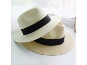 Female Sombreros Classic Black Girdle Jazz Hat Beach Hats ... e6dc9c1cfe83