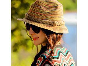 Crushable Straw Sunhat Panama Hat Women Seaside Outdoor 4cbbeb1ca439