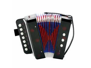 EC2WORLD Kids Children 7-Key 2 Bass Mini Small Accordion Educational Rhythm Band Toy
