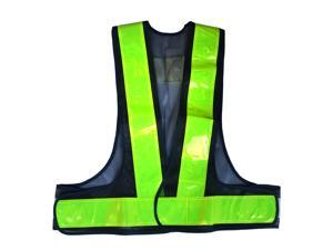 EC2WORLD Reflective Vest High Visibility Safety Vest with Reflective Strips Green Running Gear for Men, Women | Safety Vests for Jogging, Biking, Walking, Motorcycle